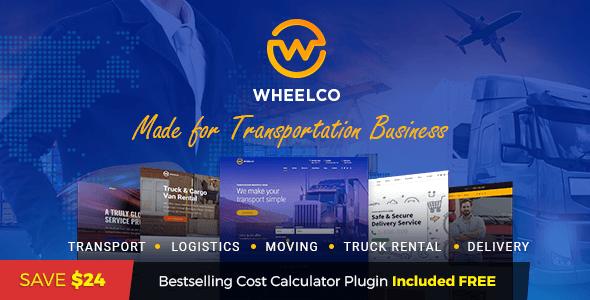 Wheelco - Transportation WordPress Theme - Business Corporate
