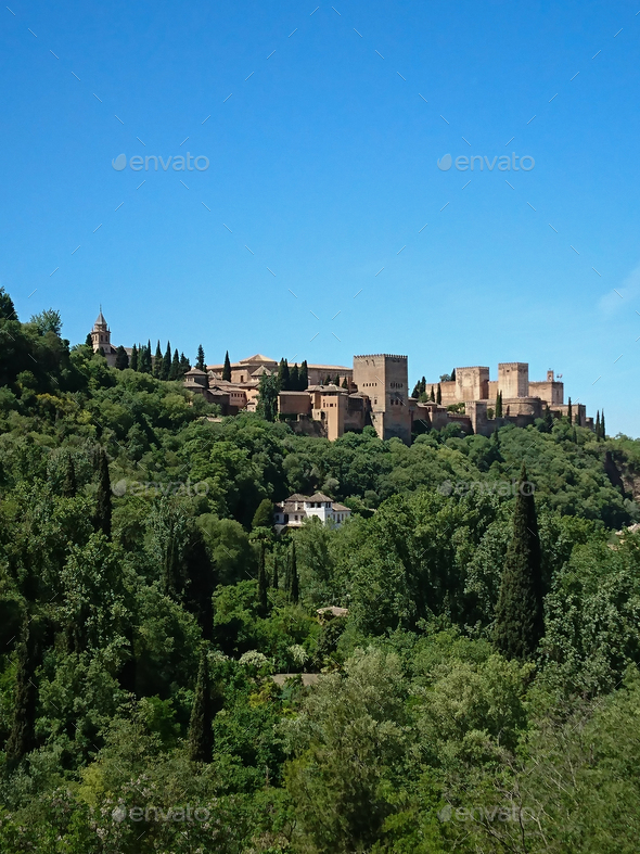 Views of the Alhambra - Stock Photo - Images