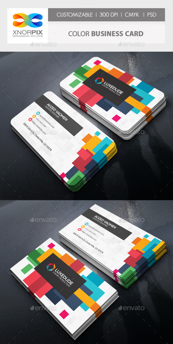 GraphicRiver Color Business Card 21128023