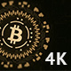 Bitcoin Sign in Center of Rotating Interface 5 in 1 Pack - VideoHive Item for Sale