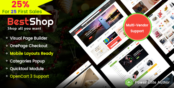 Download BestShop - Top MultiPurpose Marketplace OpenCart 3 Theme With Mobile Layouts            nulled nulled version