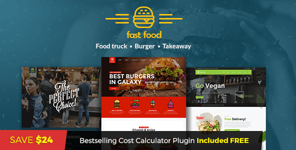 Fast Food - WordPress Fast Food Theme - Food Retail