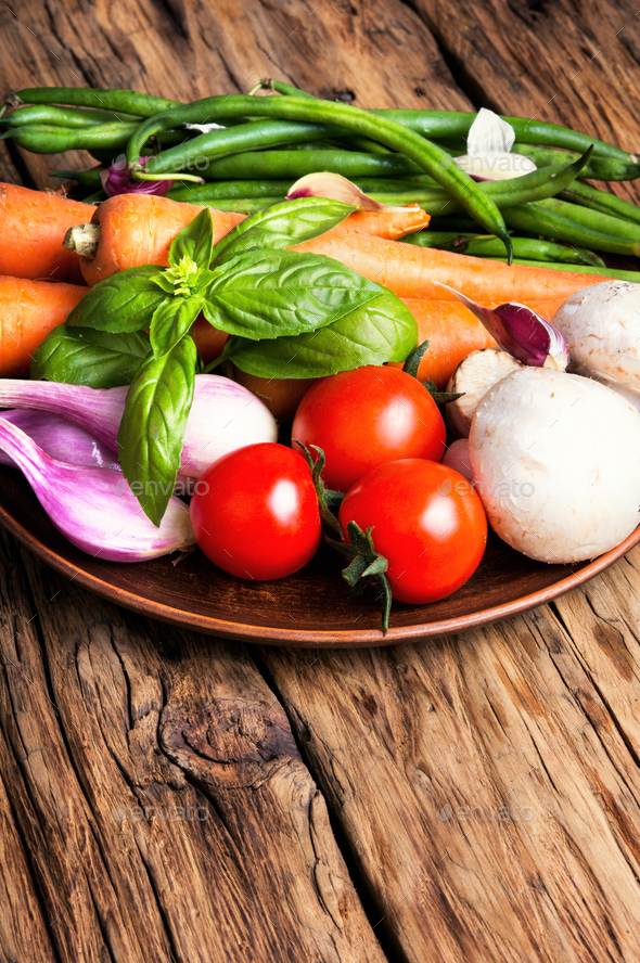 fresh summer vegetables - Stock Photo - Images