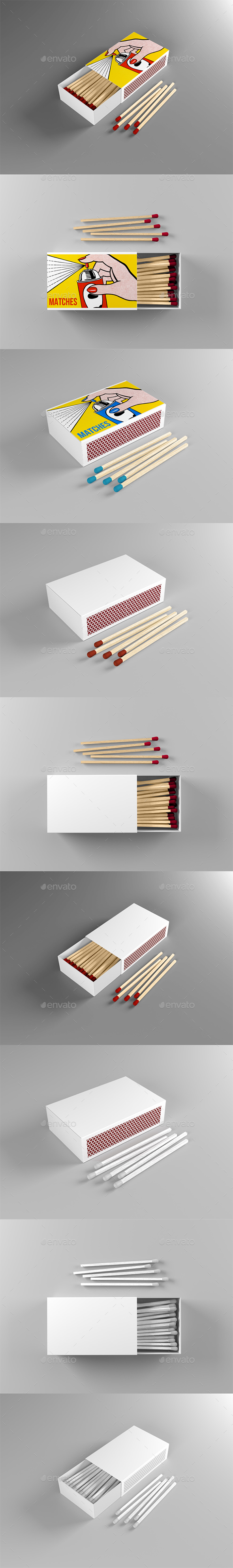 GraphicRiver Match Box Mock-up 21128257