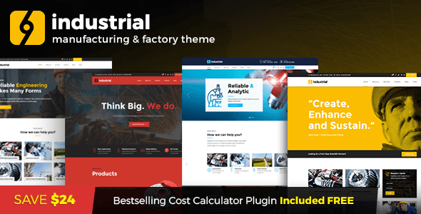 Industrial - Industry & Factory WordPress Theme - Business Corporate