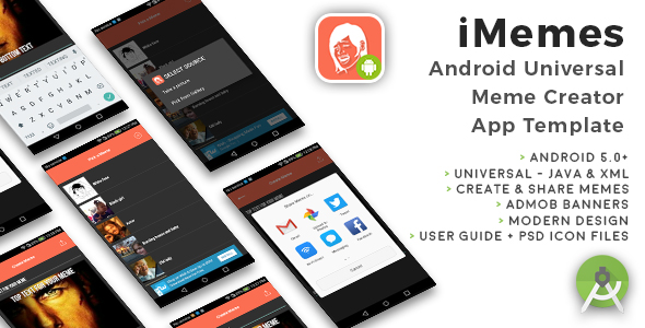 iMemes | Android Universal Meme Creator App Template - CodeCanyon Item for Sale
