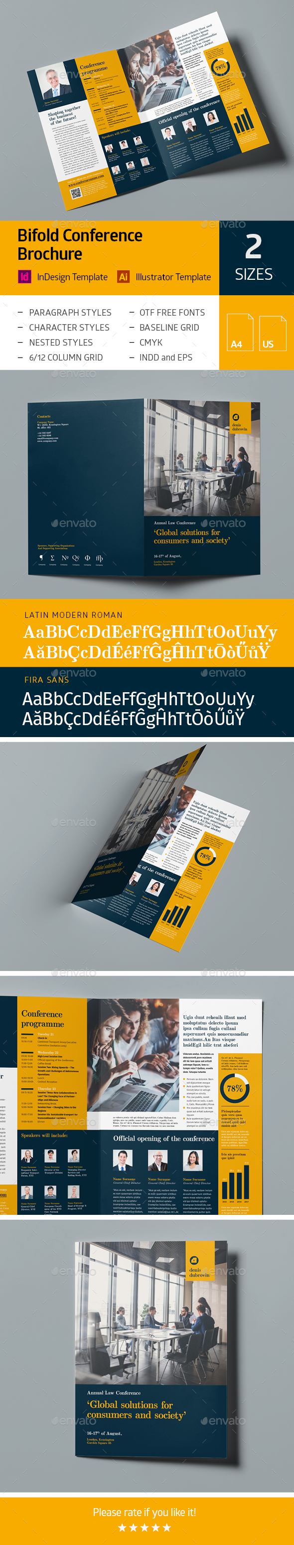 GraphicRiver Bifold Conference Brochure 21128326