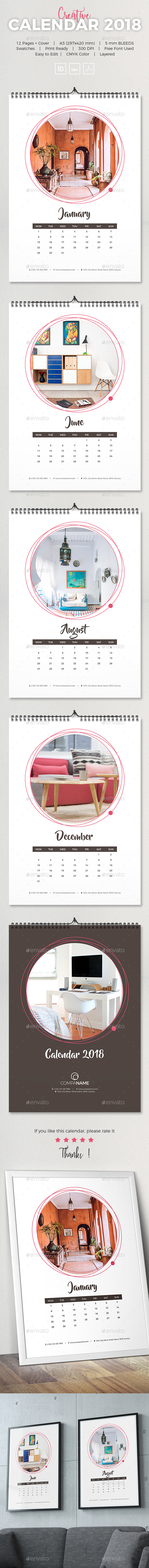 2018 Creative Calendar - Calendars Stationery