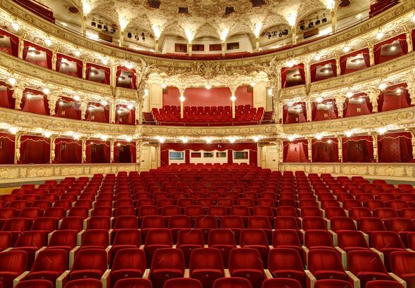 Empty auditorium in the theatre - Stock Photo - Images