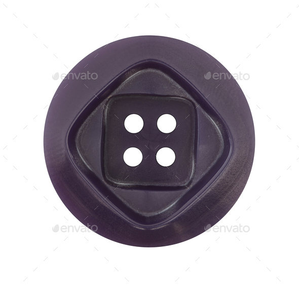 Detail of the button on white background - Stock Photo - Images