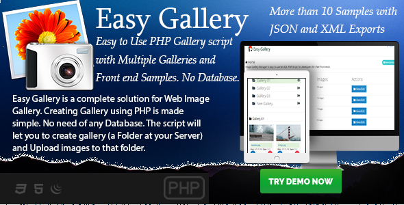 CodeCanyon Easy Gallery PHP based No-Database Gallery Creator 21128662