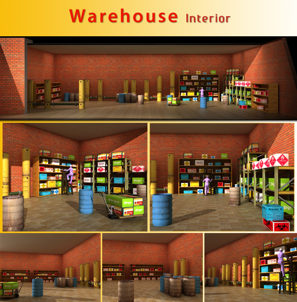 Warehouse Interior - 3DOcean Item for Sale