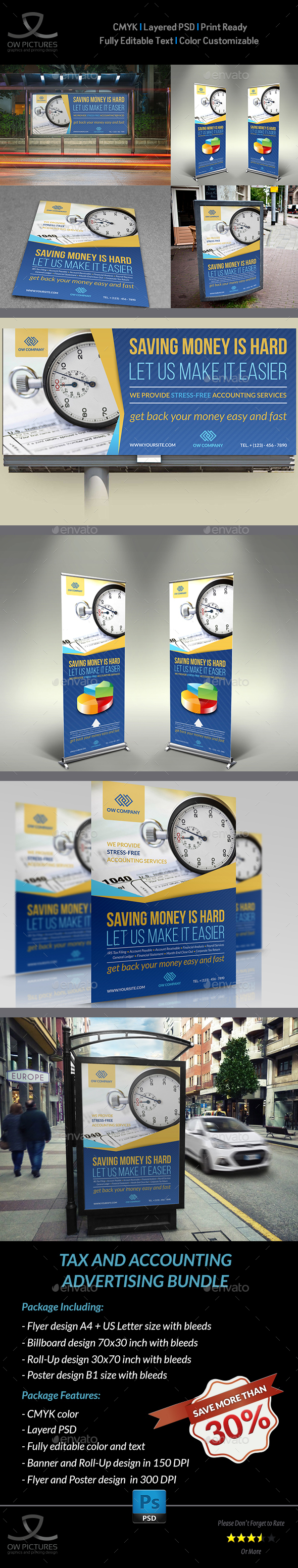 GraphicRiver Tax and Accounting Advertising Bundle Vol.2 21128758