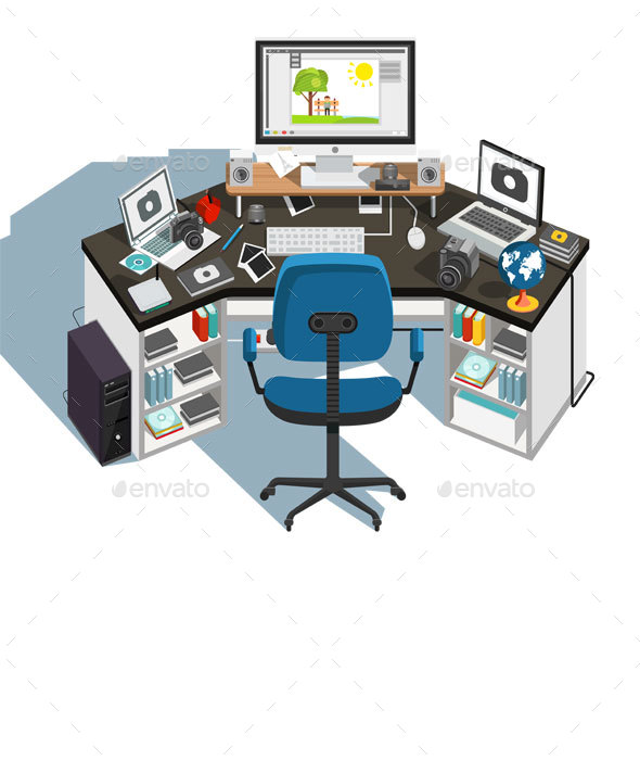 GraphicRiver Photographer Workplace 21128826