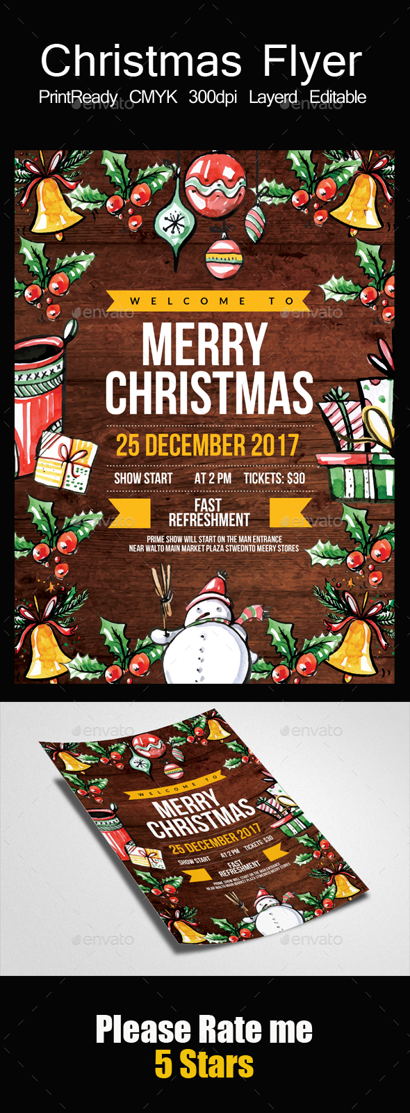 GraphicRiver Marry Christmas Flyer Template 21128928