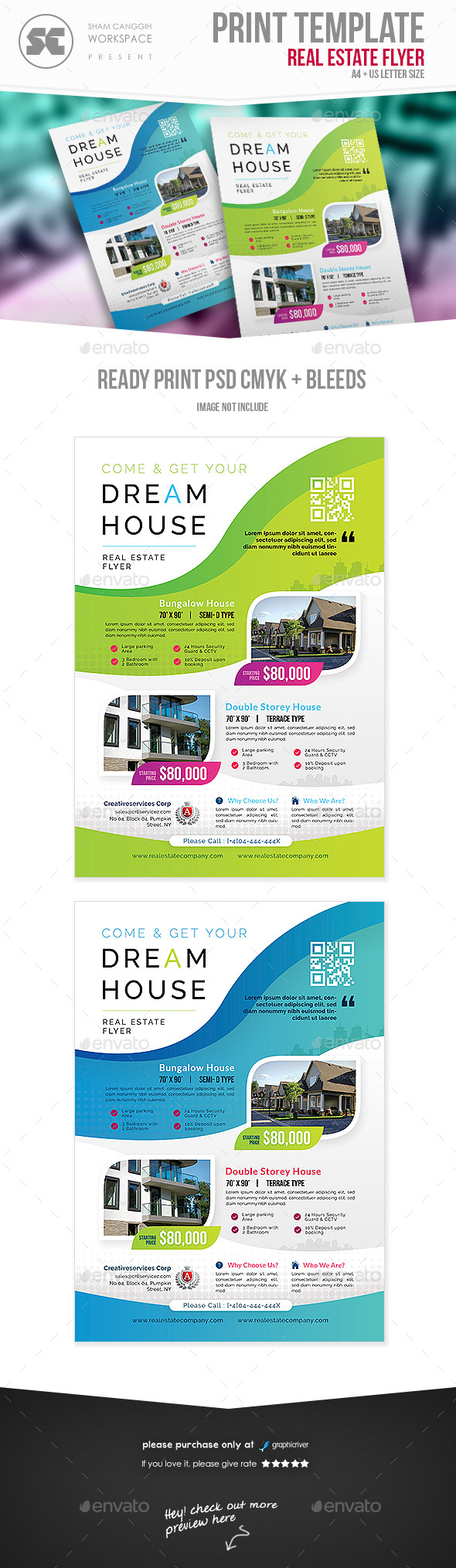 GraphicRiver Real Estate Flyer 21128933