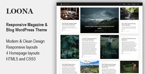 Loona - Personal Blog & Magazine WordPress Theme - Blog / Magazine WordPress