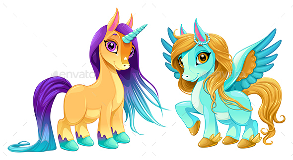 Baby Unicorn And Pegasus