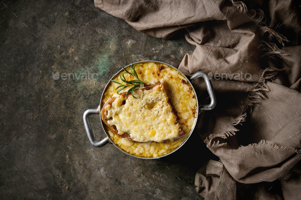 Traditional onion soup - Stock Photo - Images