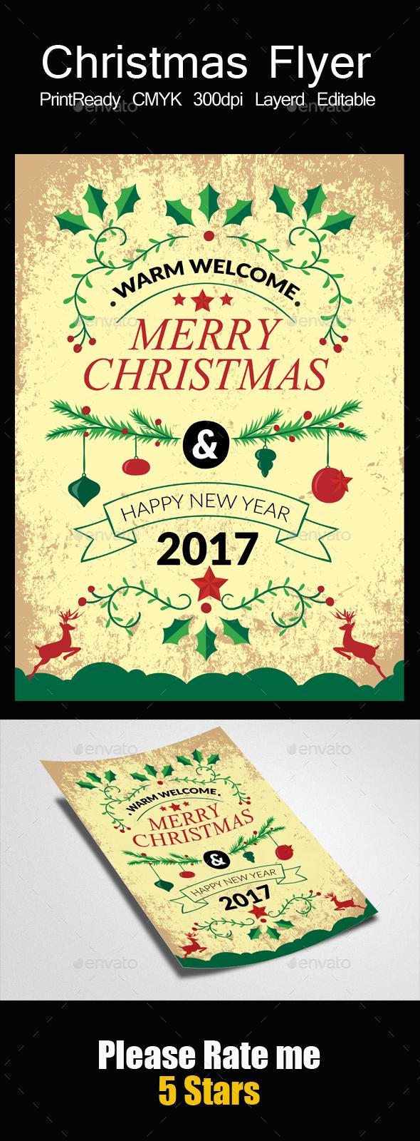 Christmas Festival Flyer Psd - Events Flyers