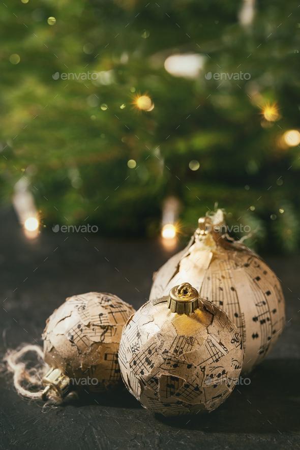 Craft Christmas balls - Stock Photo - Images