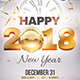 Happy New Year 2018 Flyer Template - GraphicRiver Item for Sale