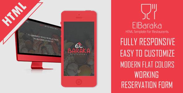 Download El Baraka - HTML5 Template For Restaurants            nulled nulled version