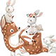 Cute Little Deer with Hares - GraphicRiver Item for Sale