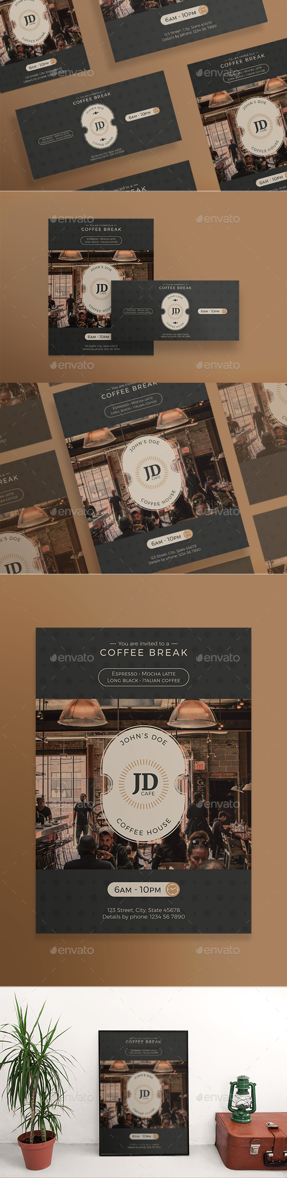 GraphicRiver Coffee Break Flyers 21129181