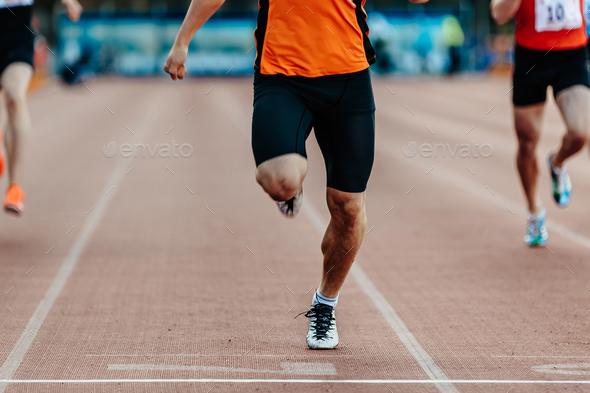 finish winner runner athlete - Stock Photo - Images