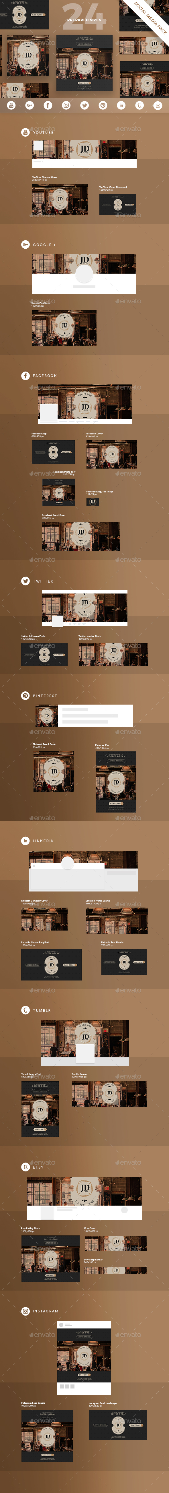 GraphicRiver Coffee Break Social Media Pack 21129197