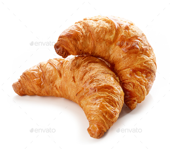 freshly baked croissants - Stock Photo - Images