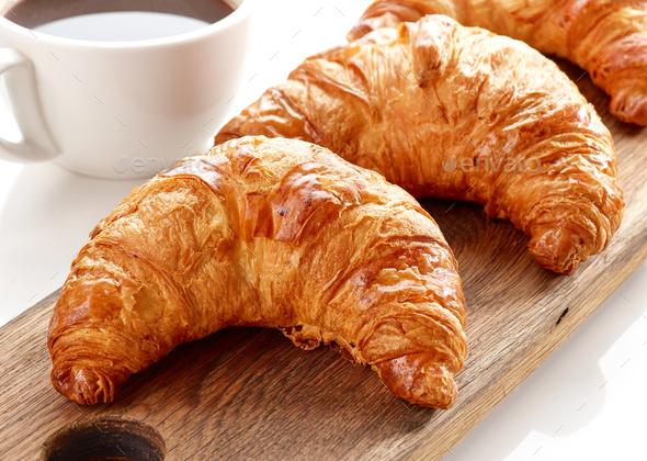 freshly baked croissants - Stock Photo - Images