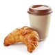 freshly baked croissant and coffee - PhotoDune Item for Sale