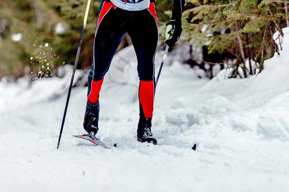 skier athlete classic style - Stock Photo - Images