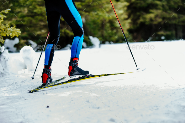legs men skier - Stock Photo - Images