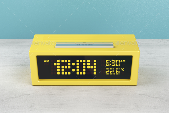 Yellow alarm clock - Stock Photo - Images