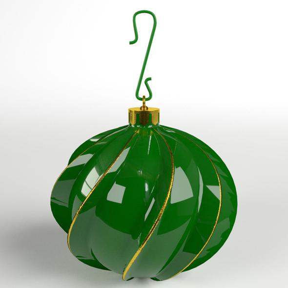 3DOcean Christmas Ball twisted 21129314