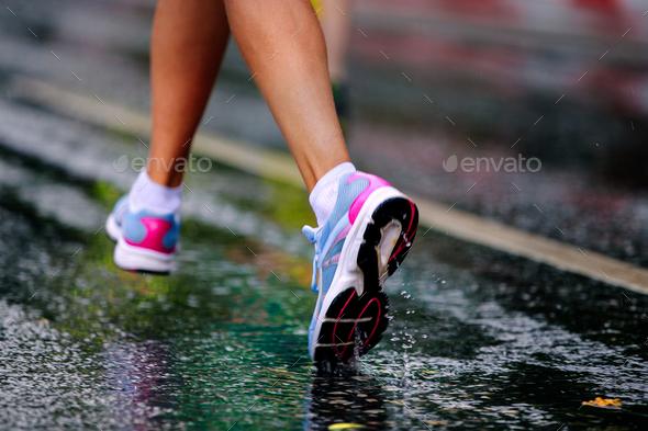 running shoe girl runner - Stock Photo - Images