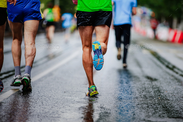 water drop in running shoe - Stock Photo - Images