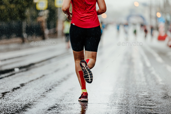 back woman running - Stock Photo - Images