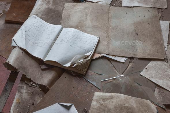 Destruction in Chernobyl kindergarten. - Stock Photo - Images
