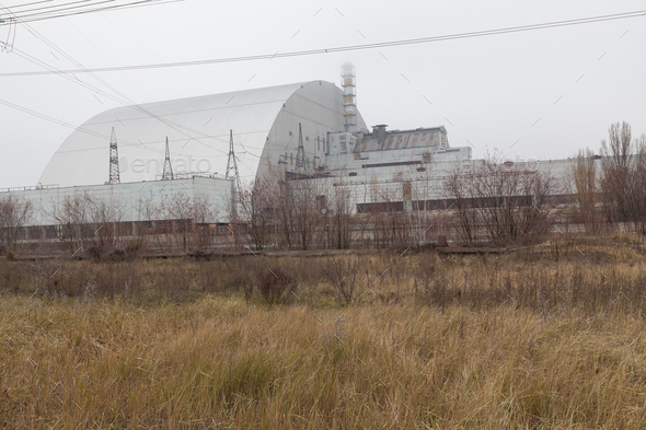 Chernobyl, Ukraine. 4 block of Chernobyl nuclear power plant - Stock Photo - Images
