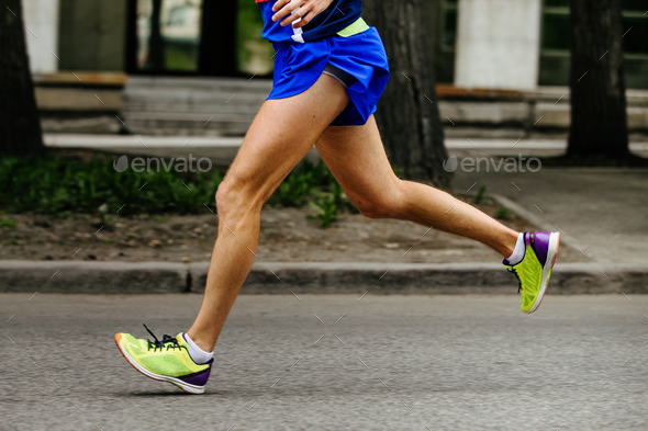 side view foot male athlete runner - Stock Photo - Images