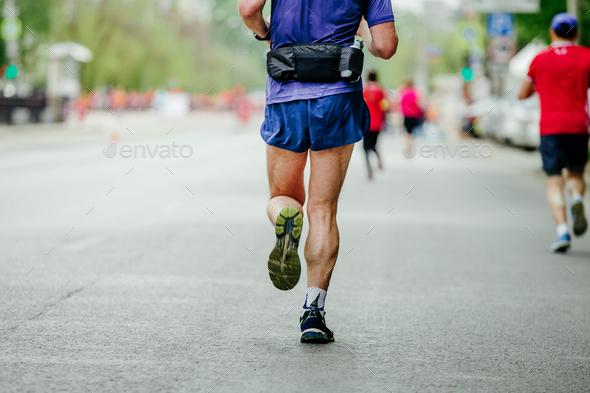 back male runner - Stock Photo - Images