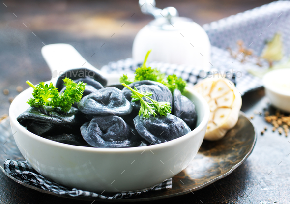 black dumplings - Stock Photo - Images