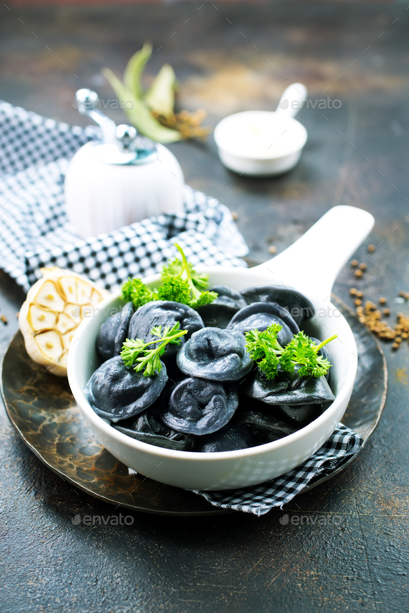 black dumplings - Stock Photo - Images