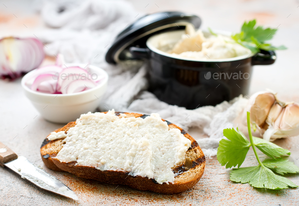 lard with garlic - Stock Photo - Images
