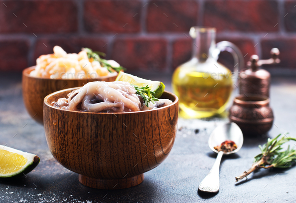 raw octopus - Stock Photo - Images