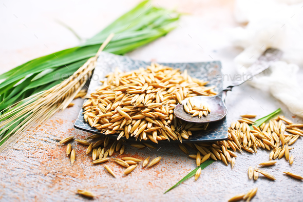 raw oat - Stock Photo - Images